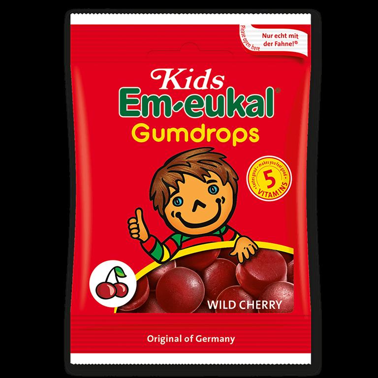 Kids Em-eukal Gumdrops WILD CHERRY